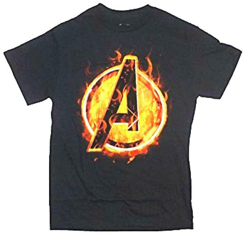 Marvel Comics Avengers Core Icon A Logo Movie Mens T-Shirt