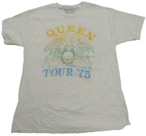 Queen Tour 1975 Logo Men's Official Merch Tee T-shirt