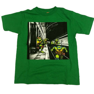 Teenage Mutant Ninja Turtles TMNT Subway Donatello Movie Boys T-Shirt