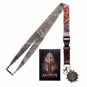 Assassin's Creed Movie Video Game Lanyard Collectible Sticker Charm