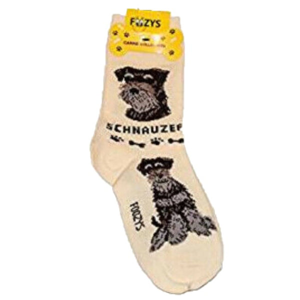 Schnauzer - Canine Collection ~ Foozys by Crazy Awesome Socks ~ Choice 1 or 2 Pairs