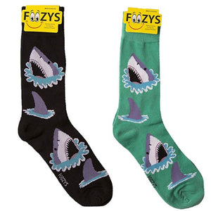 Great White Shark Foozys Men's Crew Socks Foozy
