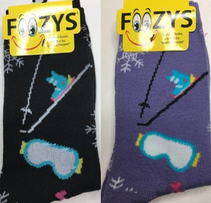 Ski Equipment ~ Foozys by Crazy Awesome Socks ~ Choice 1 or 2 Pairs