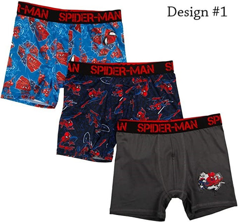 Spiderman Boxer Briefs Boys 3 Pack Action Underwear
