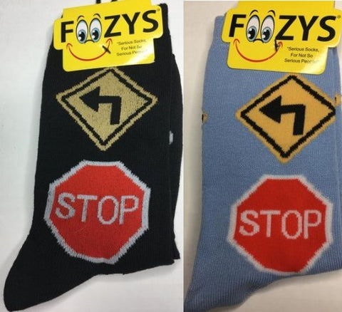 Red Light Green Light Stop Signs Street Signs Foozys Womens Crew Socks
