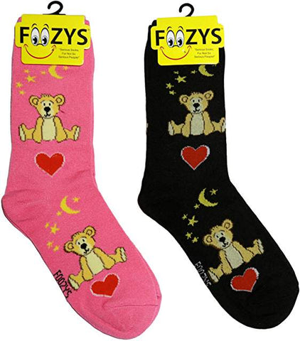 Stuffed Teddy Bears Foozys Womens Crew Socks