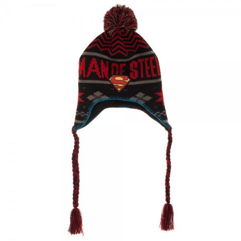 Superman Laplander beanie hat Man of Steele