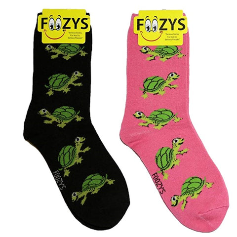 Turtles Foozys Womens Crew Socks