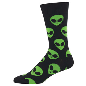 We Come in Peace Alien Mens SockSmith Crew Socks