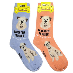 Wheaten Terrier Foozys Canine Dog Crew Socks