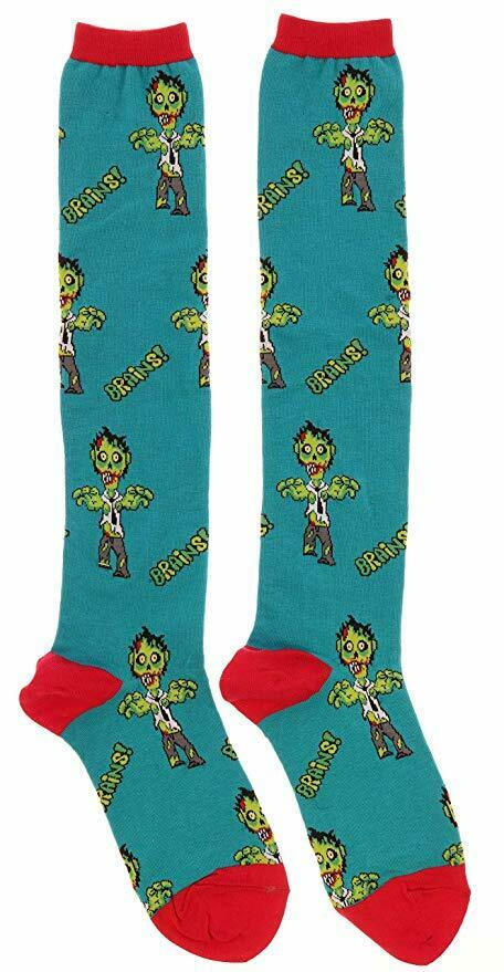 Zombies Undead Brains Socksmith Womens Knee-high Socks