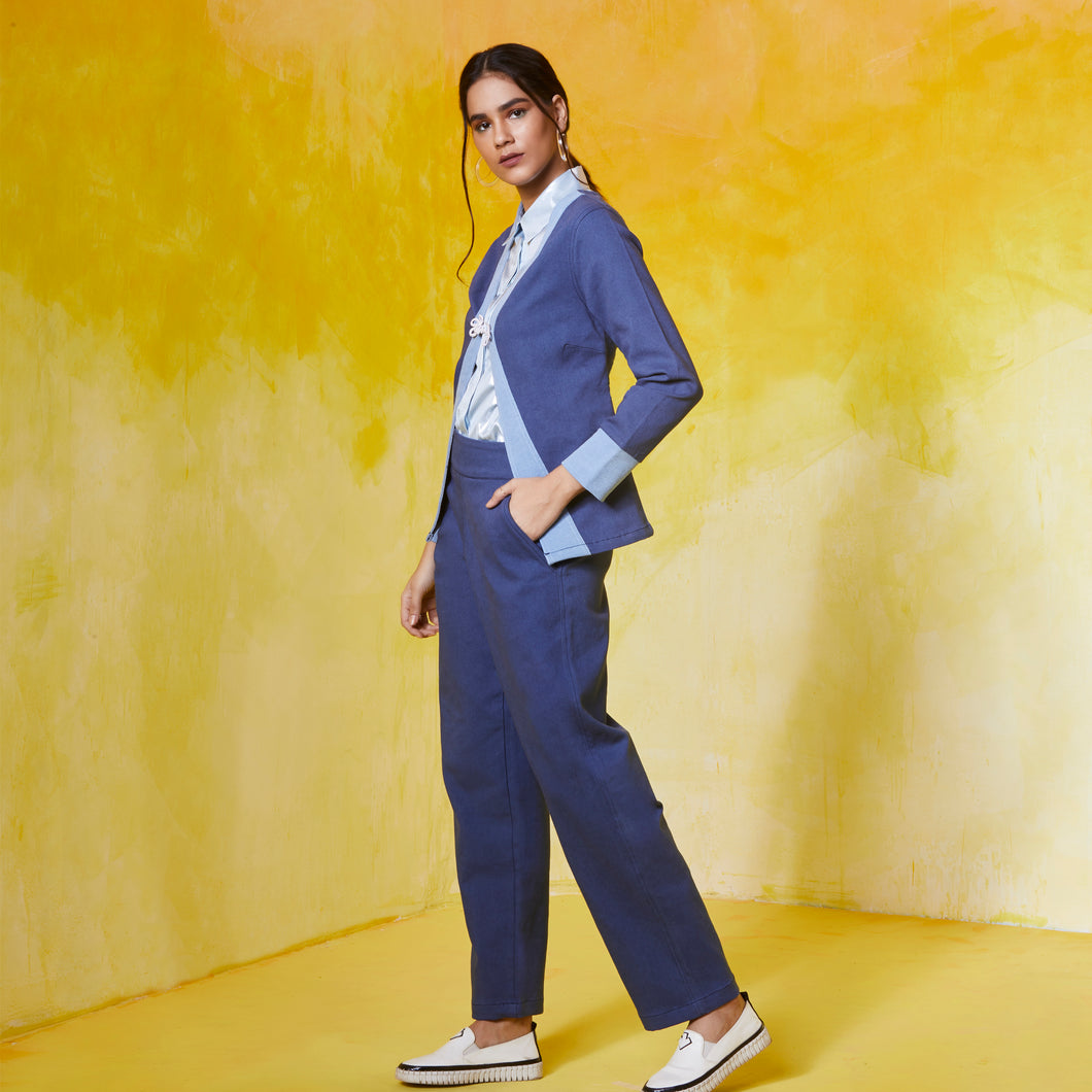 Double Coloured Pant Suit