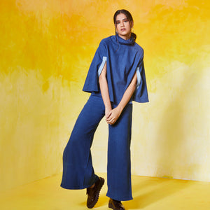 Poncho Cape Flared & Flared Pants