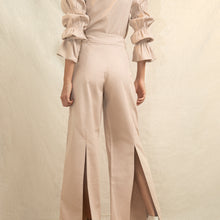 Ruffles Sleeves and Back Slit Pant Set