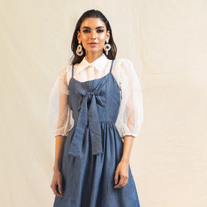 Denim Silk Dress