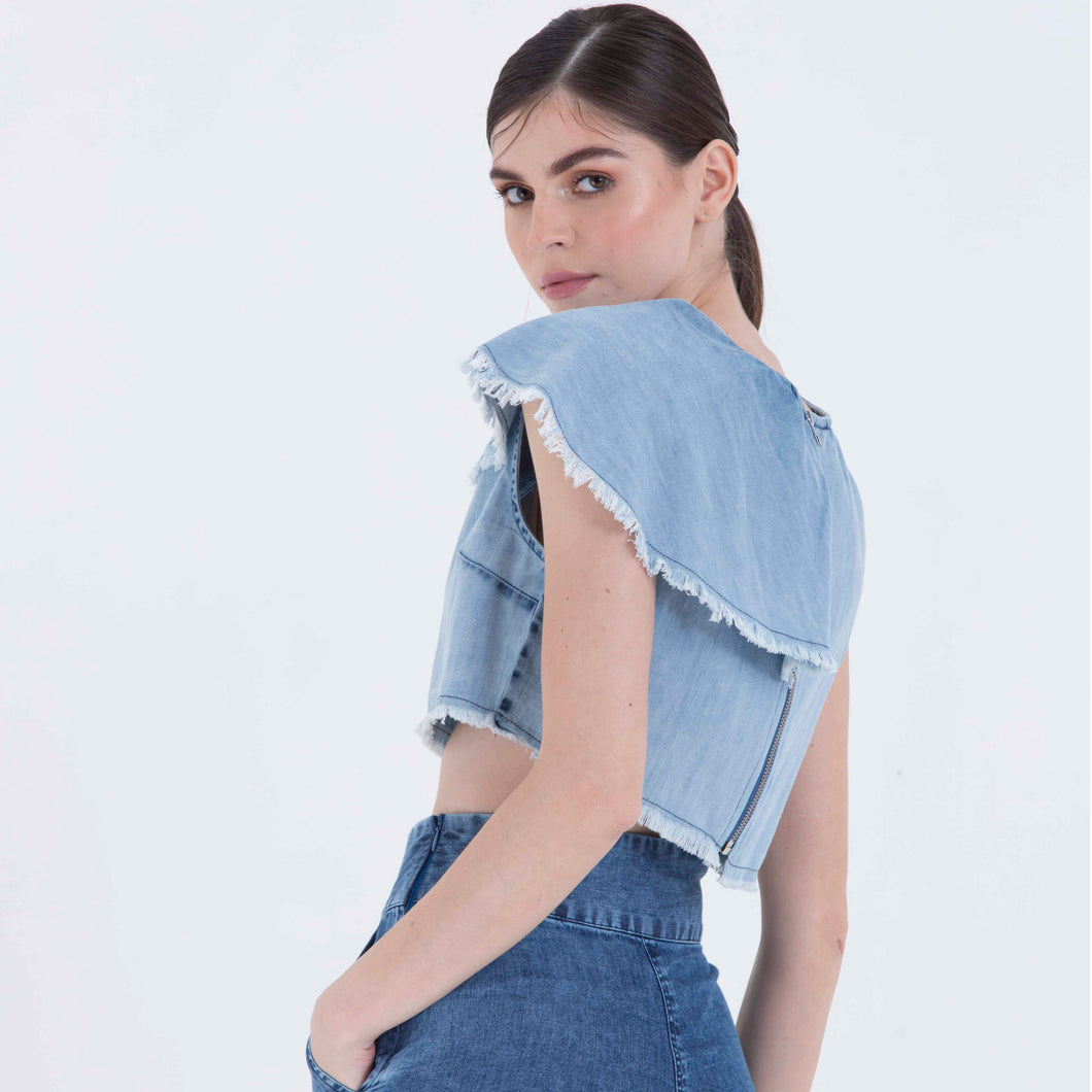 The Vineeta One shoulder ruffled Top