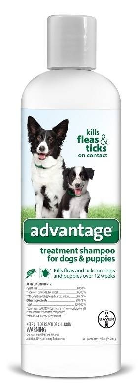 Bayer Advantage Treatment Shampoo for Dogs and Puppies