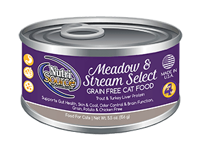 NutriSource Grain Free Meadow & Stream Select Canned Cat Food