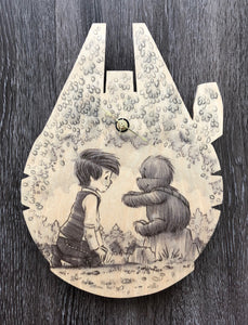 The Promise (Wookiee the Chew - Wooden Wall Clock)