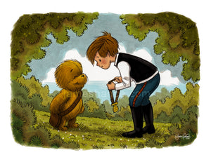 "For Friendship & Bravery (Wookiee the Chew - 11""x14"")"