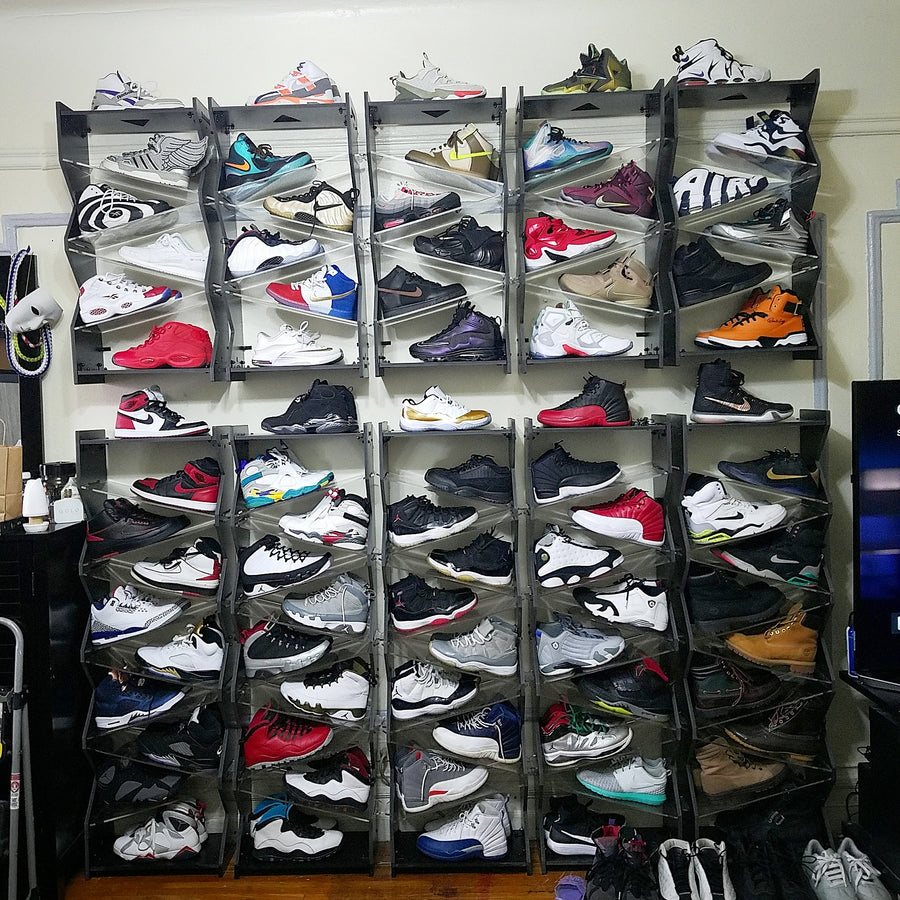 10 Stack Shoe Organizer - Use our long-term shoe storage solution for your work shoes, shoes for play, shoes in the mudroom, shoes in the kids bedroom, in the master bedroom. Keep your shoes protected and organized. Find your shoe storage inspiration at Sole Stacks.