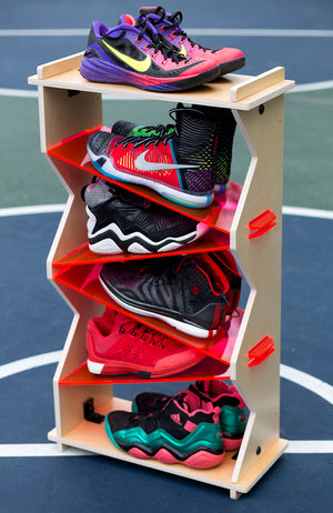 6 Stack Shoe Organizer - Use our long-term shoe storage solution for your work shoes, shoes for play, shoes in the mudroom, shoes in the kids bedroom, in the master bedroom. Keep your shoes protected and organized. Find your shoe storage inspiration at Sole Stacks.