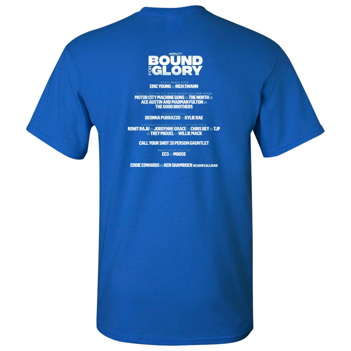 Bound For Glory 2020 Rosemary, Taya Valkyrie & John E Bravo WOMEN'S Short Sleeve Tee