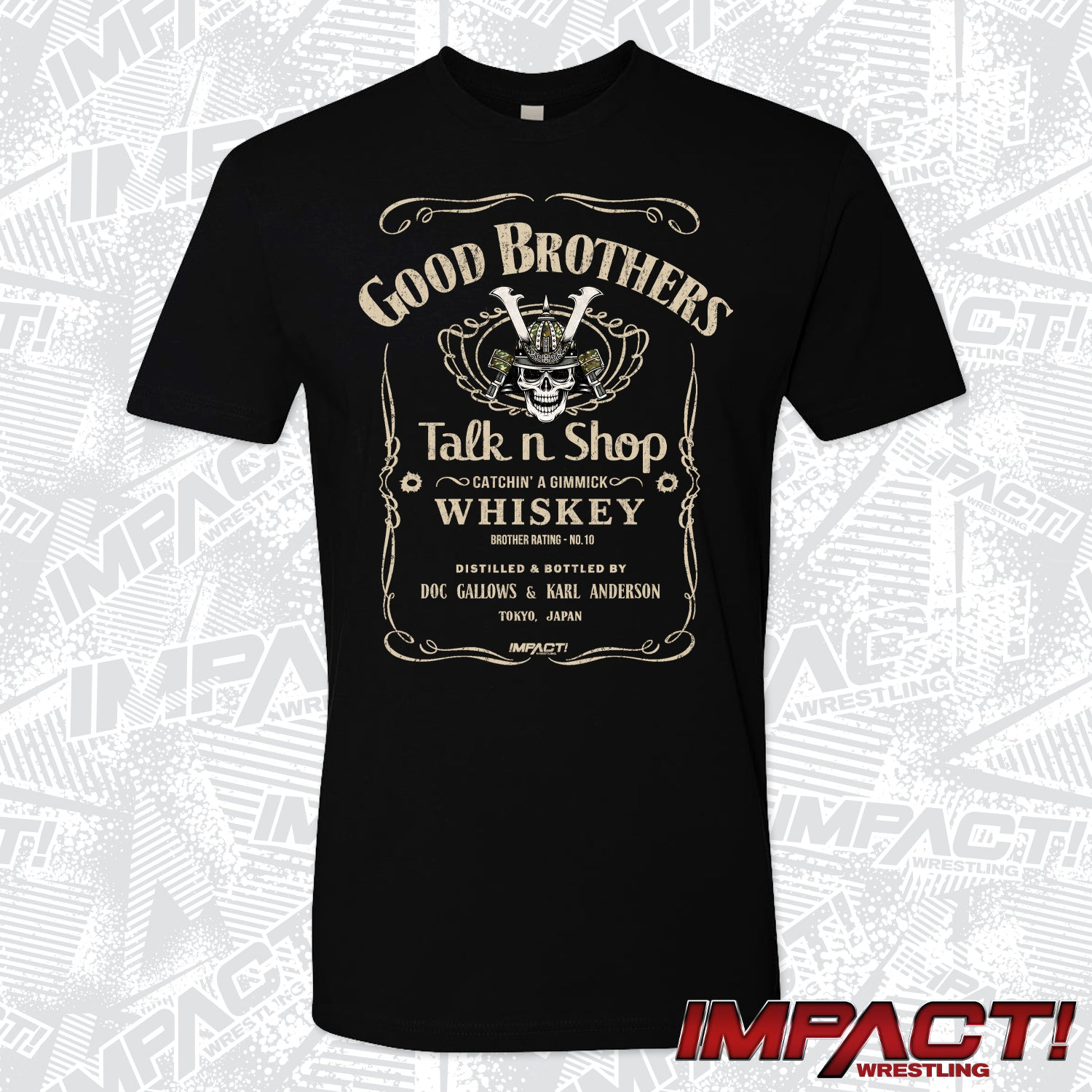 The Good Brothers 'Talk n Shop' Short Sleeve Tee - Black
