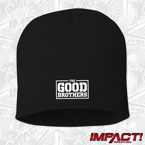 The Good Brothers White Logo Beanie
