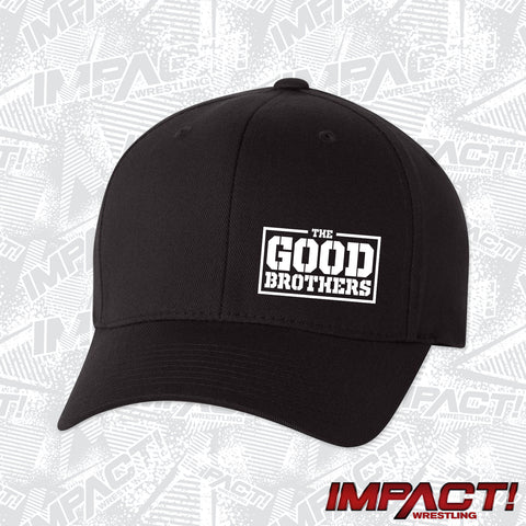 The Good Brothers White Logo Flex Hat