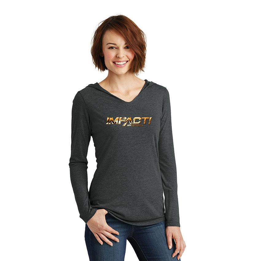 Impact Gold Women's Hooded Long Sleeve T-Shirt
