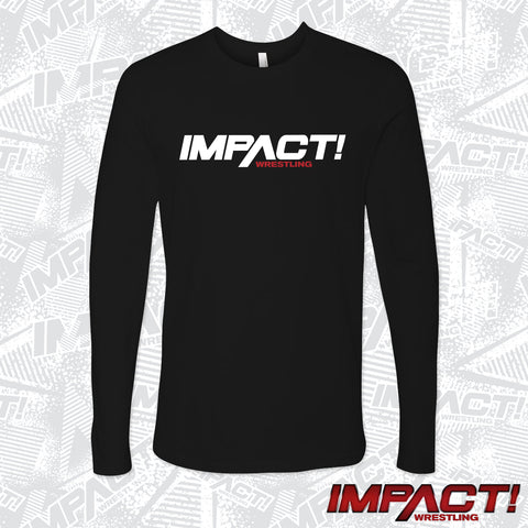 IMPACT White Logo Long-sleeve Shirt