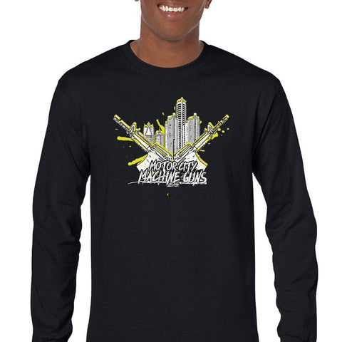 Motor City Machine Guns Detroit City Heat Men's Long Sleeve T-Shirt