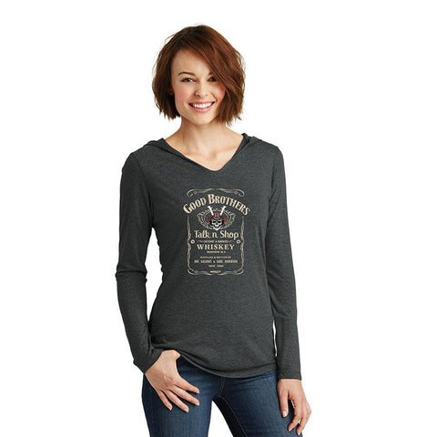The Good Brothers Talk n Shop' Women's Hooded Long Sleeve T-Shirt