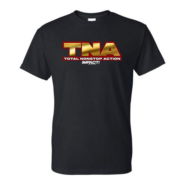 TNA - Total Nonstop Action Black Tee - Gold Logo