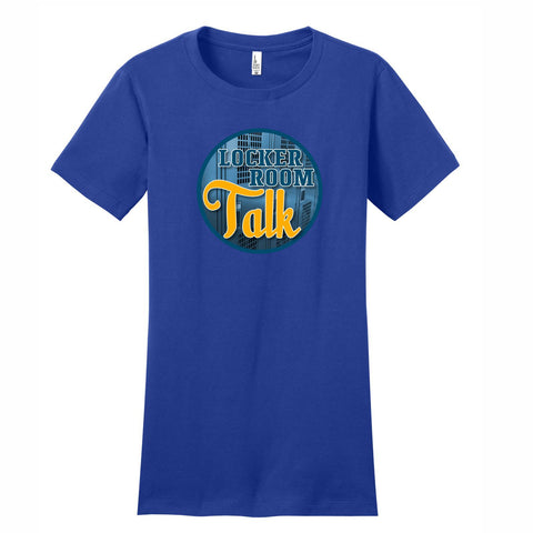 Locker Room Talk - Women's Short Sleeve Tee Royal