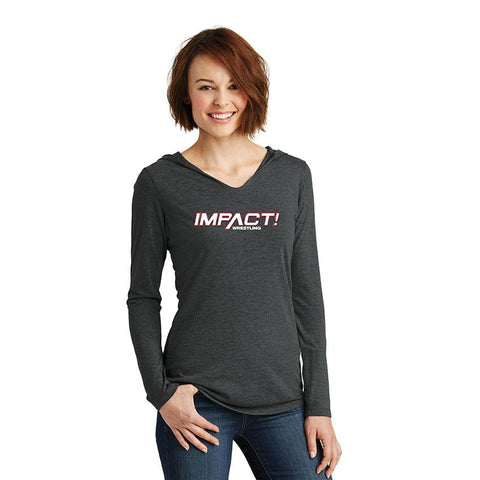 Impact Red Women's Hooded Long Sleeve T-Shirt