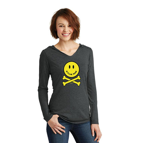 Kylie Rae Smile Women's Hooded Long Sleeve T-Shirt