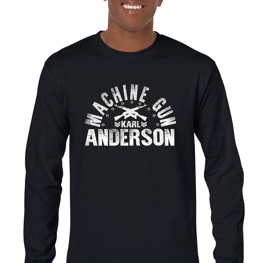 Machine Gun Anderson Men's Long Sleeve T-Shirt