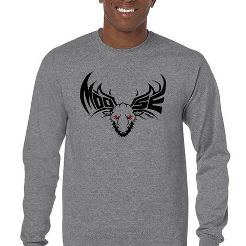 Moose Black Men's Long Sleeve T-Shirt