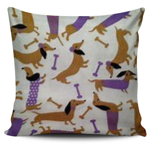 Doxie Print Pillow Cover