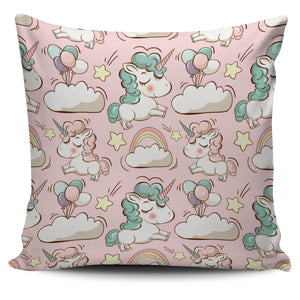 Pink Unicorn Pillow Cover