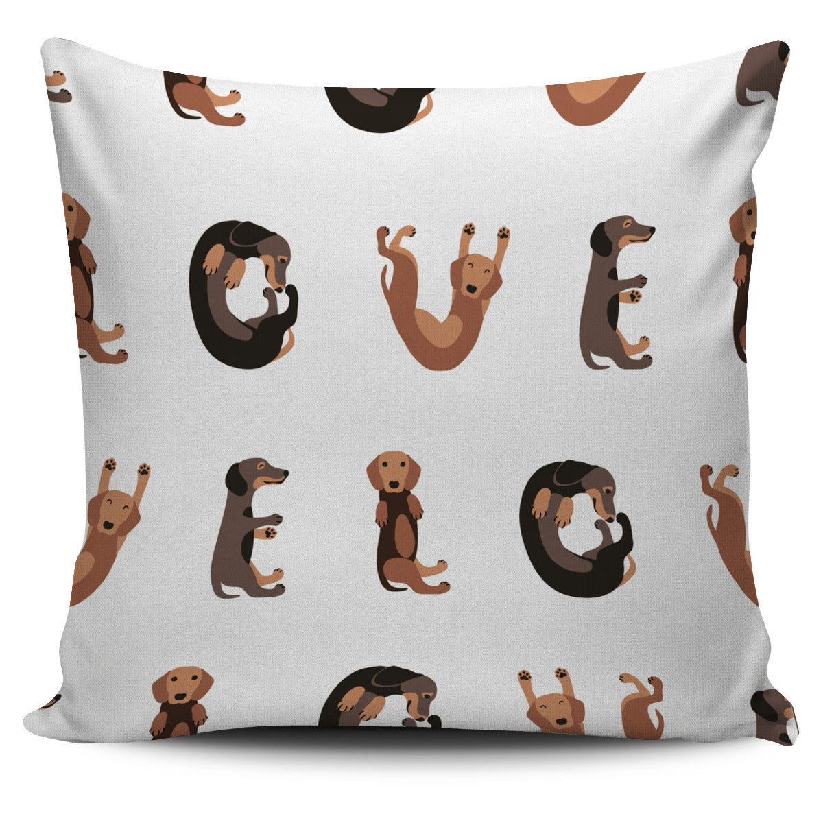 Doxie Love Pillow Cover