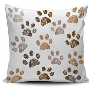 Brown Paws Pillow Cover