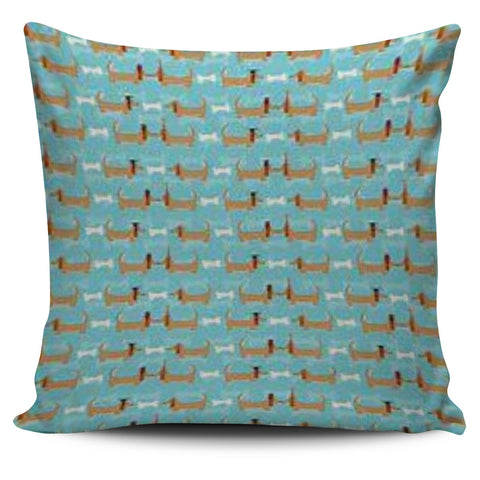 Doxie Dog and Bones Pillow Cover