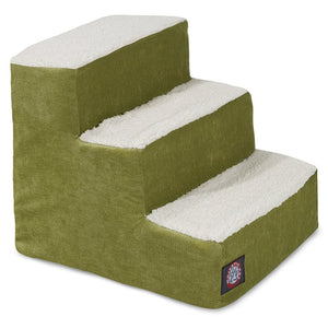 3 STEP VILLA PET STAIRS / STEPS FOR CATS AND DOGS (APPLE GREEN)