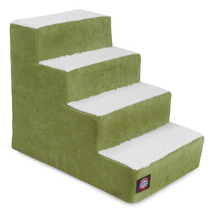 4 STEP VILLA PET STAIRS / STEPS FOR CATS AND DOGS (APPLE GREEN)