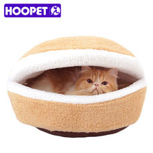 Hoopets Unique Hamburger Design Cat or Small Dog House. 2 sizes.