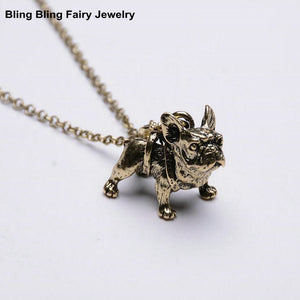 French Bull Dog Pendant Necklace
