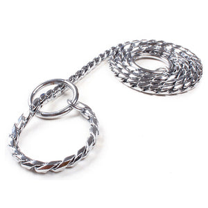 Strong Metal Chain Chrome Dog Leash.  3 sizes.